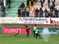Aytemiz Alanyaspor - Atiker Konyaspor maçının bitiş düdüğünün ardından olaylar çıktı.