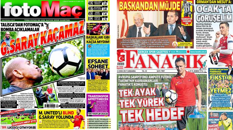 11 Ekim gazete manşetleri