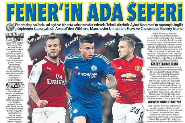Gazetelere bir dakikada göz atın...