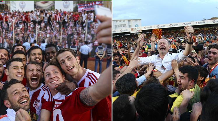 Spor Toto Süper Lig'e yükselmeyi garantileyen Yeni Malatyaspor ve Sivasspor'da büyük coşku yaşandı!