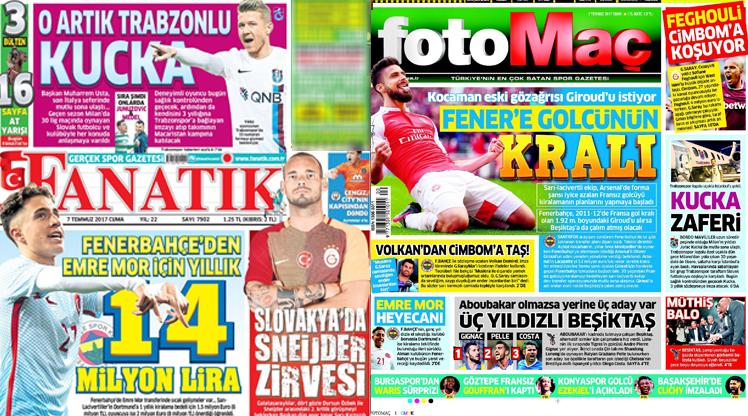 7 Temmuz gazete manşetleri