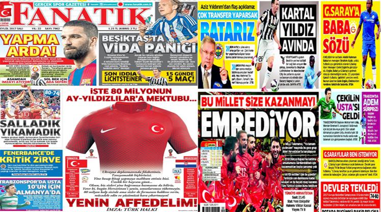 5 Eylül 2017 gazete manşetleri