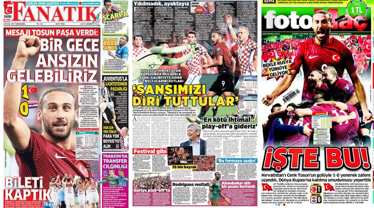 6 Eylül gazete manşeleri
