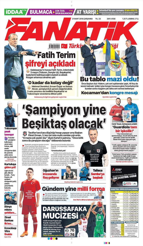 21 Mart gazete manşetleri