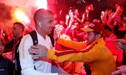 Galatasaray'a çılgın karşılama