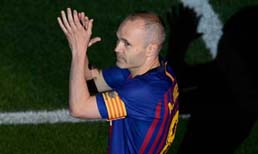 Barcelona efsanesi Iniesta