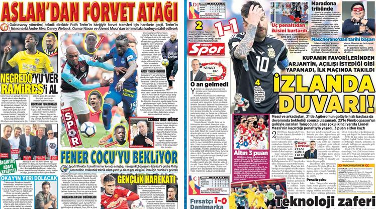 17 Haziran gazete manşetleri