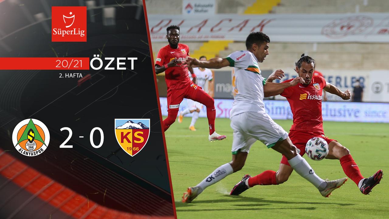 Alanyaspor Hes Kablo Kayserispor maç özeti