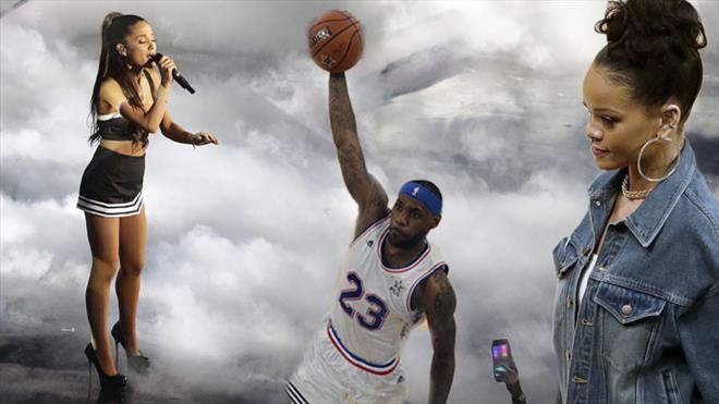 Bunun adı basketbol şöleni! Kimi arasanız oradaydı!