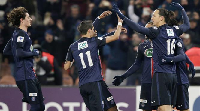 PSG'ye tur bileti Zlatan'dan