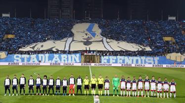 Adana Demirspor taraftarı şov yaptı