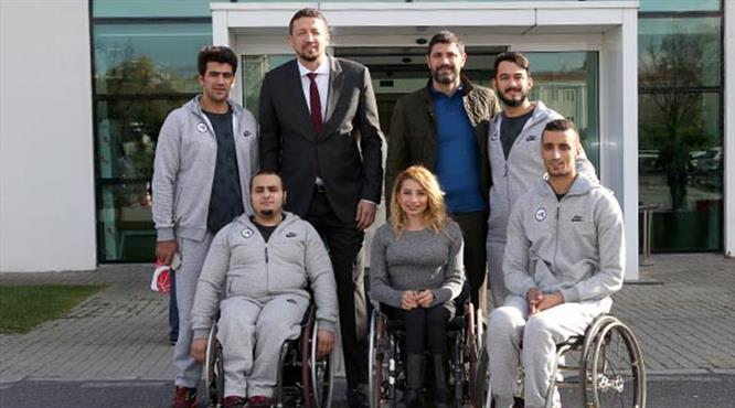 Türkoğlu engelli sporcuları ağırladı