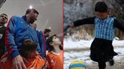 Büyük buluşma! Messi ve Afgan çocuk bir araya geldi!