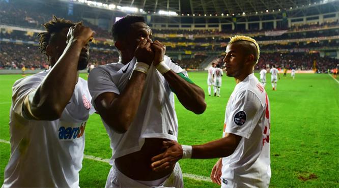 Antalyaspor Samuel Eto'o'nun golüyle 1-0 öne geçti