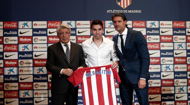 Atletico Madrid Gaitan'ı tanıttı