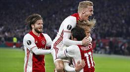Ajax zorlanmadan çeyrek finalde