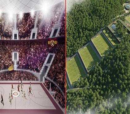 İşte Galatasaray'ın yeni tesisi ve salonu!
