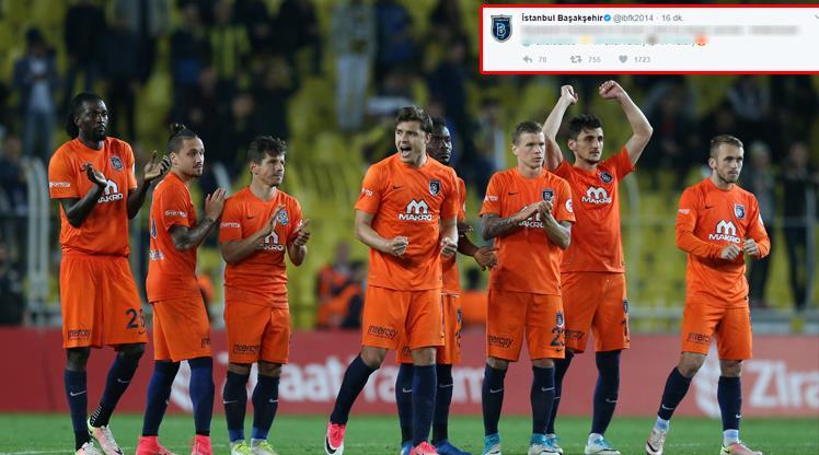 Başakşehir'den Fenerbahçe'ye destek!