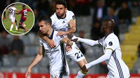 İşte penaltı anı ve Fenerbahçe'nin galibiyet golü!
