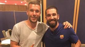 Arda Turan ve Podolski bir arada!