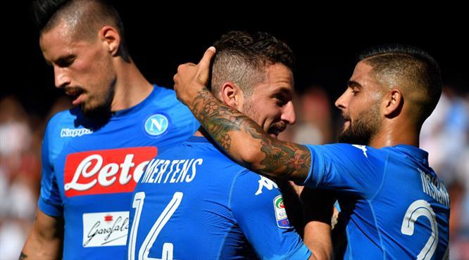 Mertens'ten hat-trick şov! Napoli'den yarım düzine gol