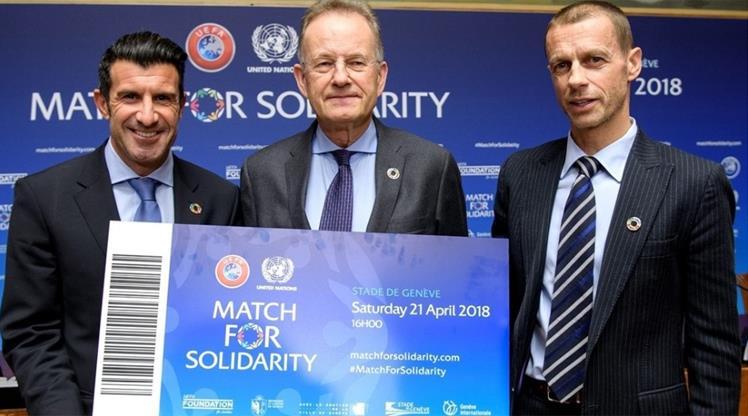 BM ve UEFA'dan dayanışma maçı