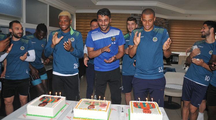 Alanya'da 3 doğum günü kutlaması