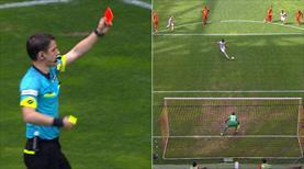 Kayseri'de penaltı ve kırmızı kart