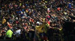 Kolombiyalılar takımını Rusya'ya uğurladı