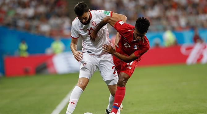 Prestij maçında gülen Tunus
