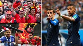 Tribünleri Belçika maçı Fransa kazandı!