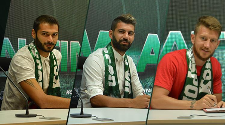 Atiker Konyaspor'dan 3 imza birden!