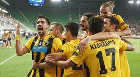 Kırmızı gecede son gülen AEK