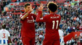 Salah Liverpool'u zirveye çıkardı! (ÖZET)