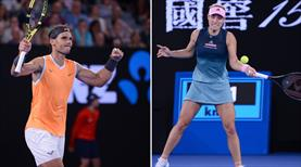 Nadal ve Kerber tur atladı!