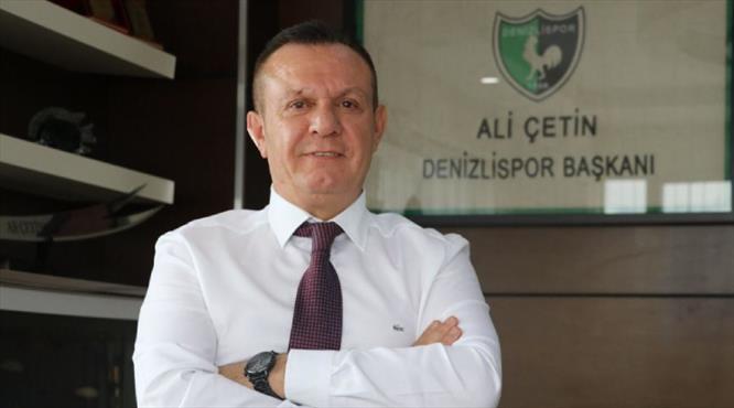 Denizlispor Başkanı Çetin PFDK'ya sevk edildi