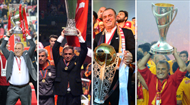 İşte Fatih Terim'in Galatasaray'da kazandığı kupalar