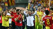 Göztepe'de maç sonu büyük coşku