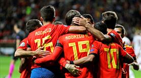 İspanya'dan gol şov