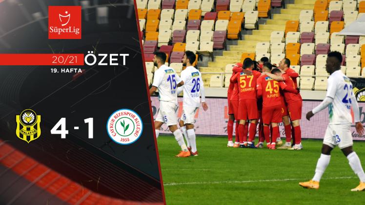 Yeni Malatyaspor Çaykur Rizespor maç özeti