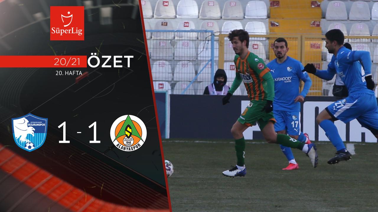 BB Erzurumspor Aytemiz Alanyaspor maç özeti