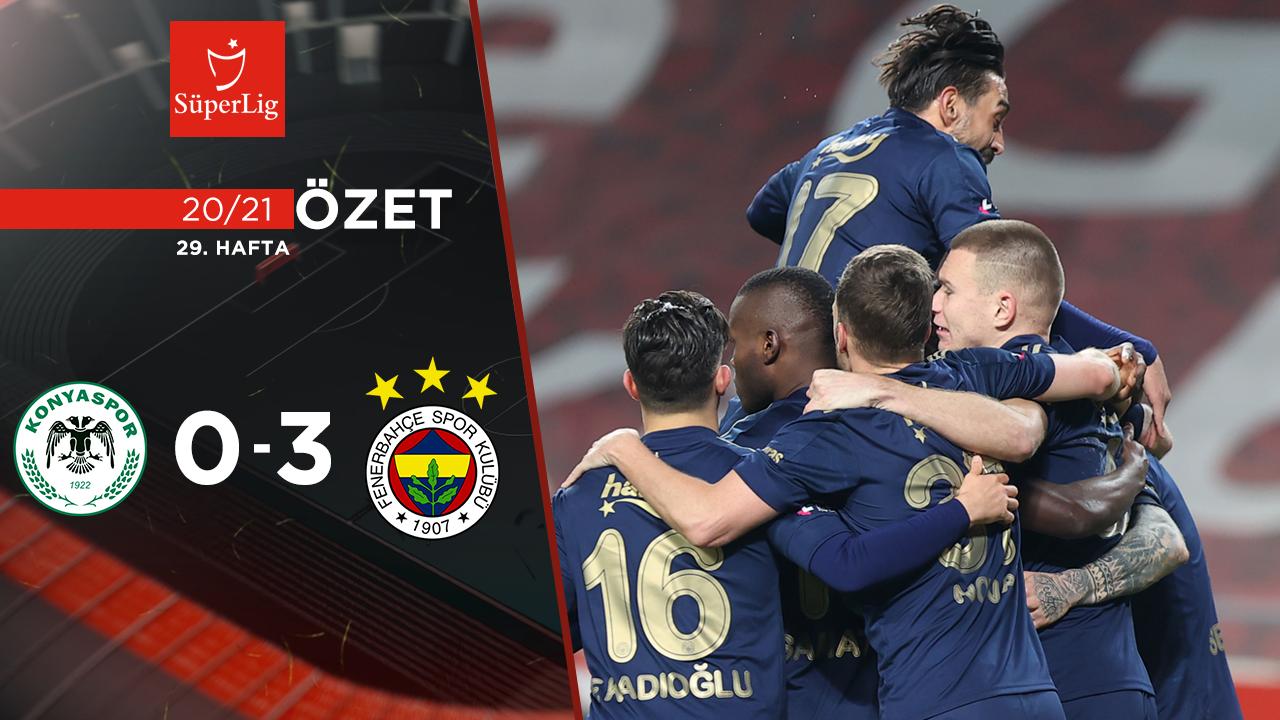 İttifak Holding Konyaspor Fenerbahçe maç özeti