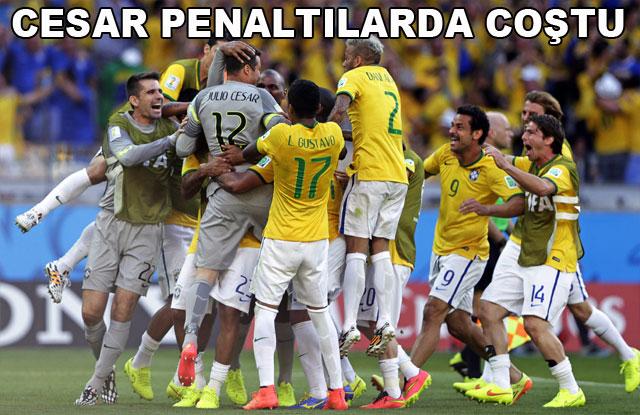 İlk çeyrek finalist Brezilya