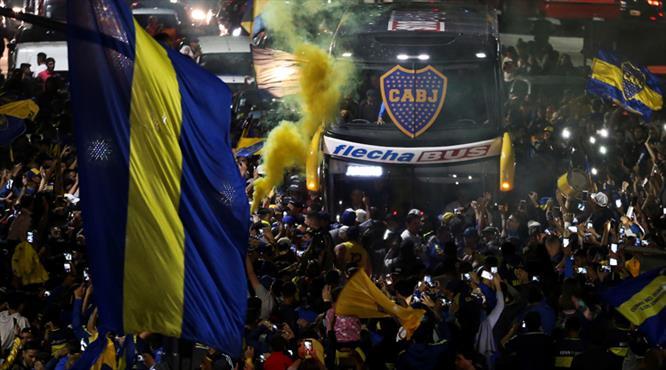 Arjantin'de Boca çılgınlığı! Böyle uğurladılar...