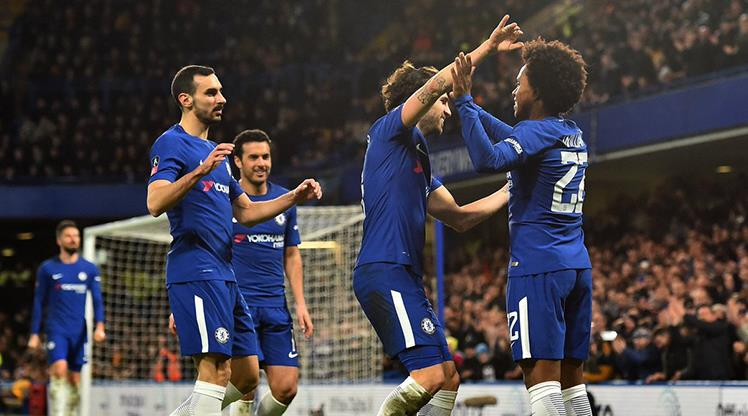 Chelsea 4 golle çeyrek finalde