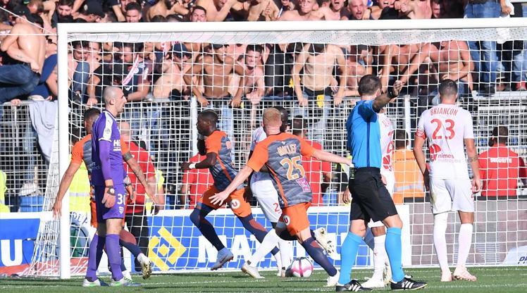 Olaylı maç Montpellier'in