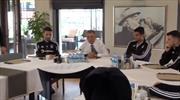 Başkan Çebi futbolcularla kahvaltıda buluştu