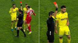 Fenerbahçe'de iki kırmızı kart