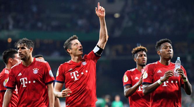 Lewandowski, Bayern'i finale taşıdı