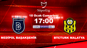 Medipol Başakşehir - BtcTürk Yeni Malatyaspor